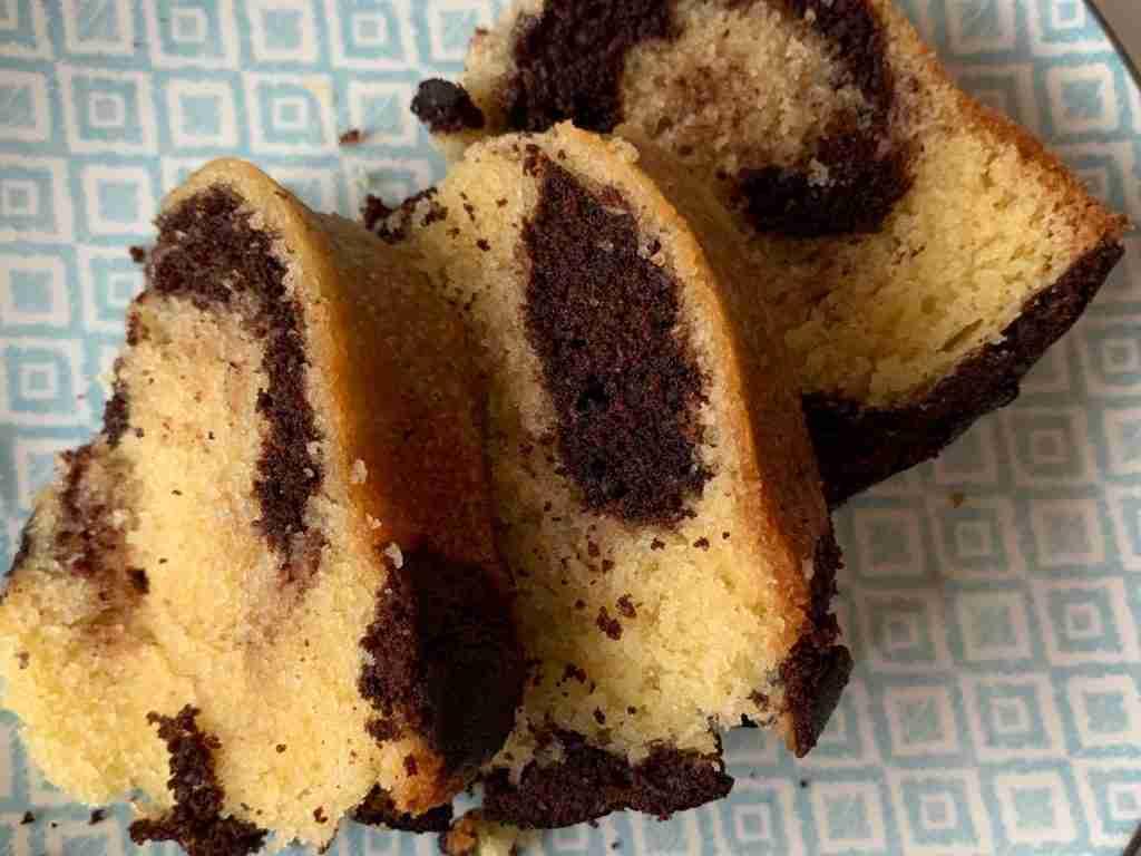 Moist chocolate marble cake
